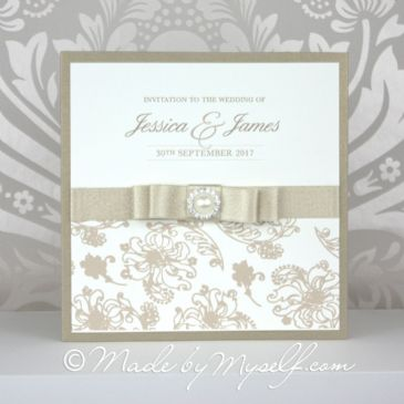 Floral Glitz Pocketfold Wedding Invitation